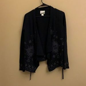 Lucky Lotus by Lucky Brand embroidered cardigan